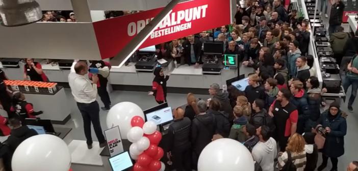 Chaos en gewonden bij opening MediaMarkt Leidschendam