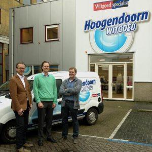 Henk Hoogendoorn (rechts) met Rob Wierenga (links) en Jelle Hylarides